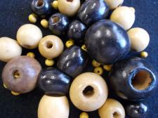 Wood Bead Mix 100g