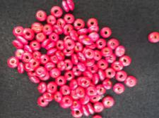 Wood Bead Disc Pink 3x5mm 100g