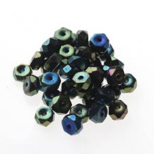 Czech Fire Polish Beads 100P 3X6mm Disc - 23980-21455