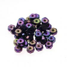 Czech Fire Polish Beads 100P 3X6mm Disc - 23980-21495