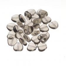 Czech Fire Polish Beads 100P 8mm Heart - 40020