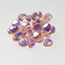 Czech Fire Polish Beads 100P 8mm Heart - 70110 - 28701