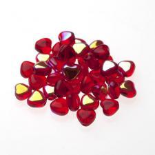 Czech Fire Polish Beads 100P 6mm Heart - 90080 - 28701