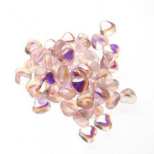 Czech Fire Polish Beads 100P 6mm Heart - 70110 - 28701