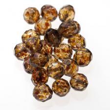 Czech Fire Polish Beads 100P 8mm Round - 00030 - 86800