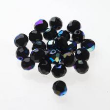 Czech Fire Polish Beads 100P 8mm Round - 23980 - 28701