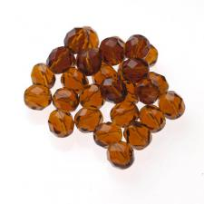 Czech Fire Polish Beads 100P 8mm Round - 10100