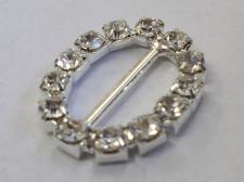 Buckles Diamante 21x18mm Clear 1pcs