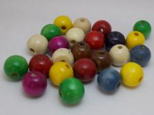 Wood Beads 16mm Mix 100g