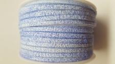 Flat Suede Cord +/-24m Lt Blue