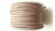 Flat Suede Cord +/-24m Brown