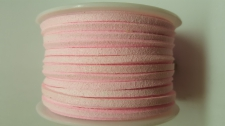 Flat Suede Cord +/-24m Lt Pink