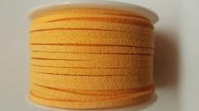 Flat Suede Cord +/-24m Lt Orange