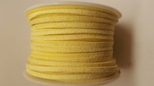 Flat Suede Cord +/-24m  Lt Yellow