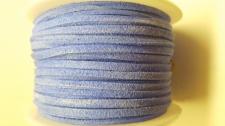 Flat Suede Cord +/-24m Blue