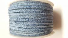 Flat Suede Cord +/-24m  Dk Blue