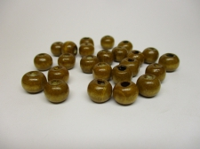 WOOD BEADS 12MM LT BROWN 125G