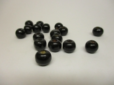 WOOD BEADS 12MM BLACK 125G