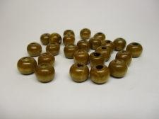 WOOD BEADS 10MM LT BROWN 125G