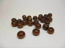 WOOD BEADS 8MM BROWN 250G