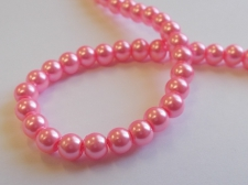 GLASS PEARLS 6MM PINK