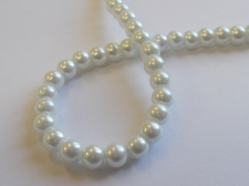 GLASS PEARLS 6MM WHITE