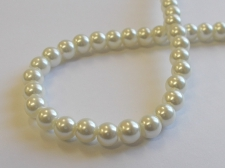 GLASS PEARLS 6MM CREAM