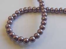 GLASS PEARLS 6MM PURPLE
