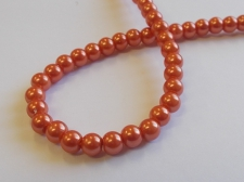 GLASS PEARLS 6MM ORANGE