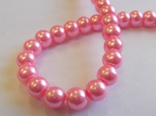 GLASS PEARLS 8MM PINK