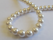 GLASS PEARLS 8MM LT PINK