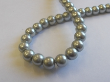 GLASS PEARLS 8MM GREY