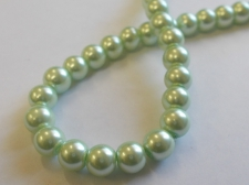GLASS PEARLS 8MM LT GREEN