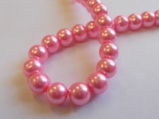 GLASS PEARLS 10MM PINK