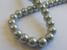 GLASS PEARLS 10MM GREY