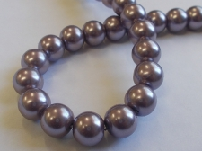 GLASS PEARLS 10MM PURPLE