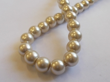 GLASS PEARLS 10MM LT GOLD