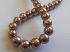 GLASS PEARLS 10MM LT PURPLE