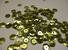 SEQUINS ROUND 7MM 100G LT GOLD