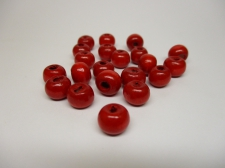 WOOD BEADS 8MM RED 250G