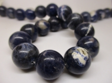 Dumortierite 15mm +/-25pcs