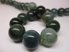 Green Agate 14mm +/-28pcs