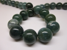Green Agate 12mm +/-33pcs
