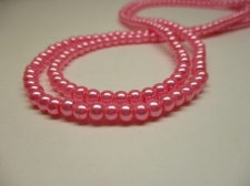 GLASS PEARLS 4MM PINK