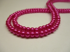 GLASS PEARLS 4MM CERISE PINK