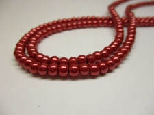 GLASS PEARLS 4MM RED
