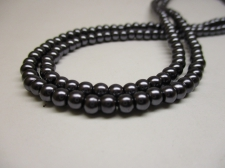GLASS PEARLS 4MM CHARCOAL