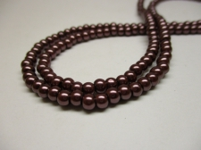 GLASS PEARLS 4MM COL 40