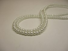 GLASS PEARLS 4MM WHITE