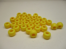 PONY BEADS 6X9MM 250G YELLOW